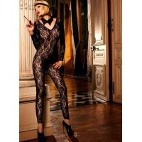 Комбинезон Long Sleeve Footless Lace Bodystocking от BACI Lingerie
