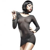 Платье Long Sleeve Fishnet Chemise от BACI Lingerie