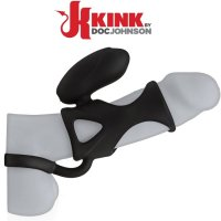Насадка на пенис Silicone Cock Cage Vibrating Kink by Doc Johnson