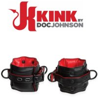Кожаные манжеты Kink Leather Wrist Restraints от Doc Johnson