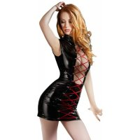 Лаковое платье Black Level Vinyl Dress with Lacing от Orion