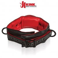 Кожаный ошейник Kink Leather Handler's Collar от Doc Johnson