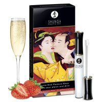 Блеск для губ для оральных ласк Shunga Divine Oral Pleasure Gloss Sparkling Strawberry Wine