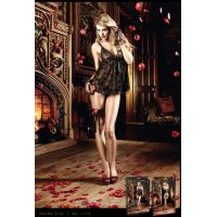 Пеньюар Lace Babydoll with Floral Pattern от BACI Lingerie