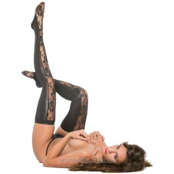 Чулки Kitten Lace and Wet Look Tights от Allure
