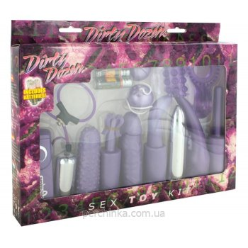 Набор игрушек Dirty Dozen Purple Sex Toy Kit от Seven Creations