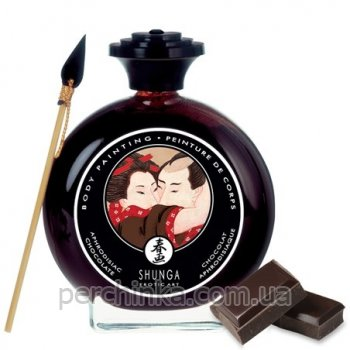 Съедобная краска для тела шоколад и афродизиак Shunga Body Painting Aphrodisiac Chocolate 100 мл