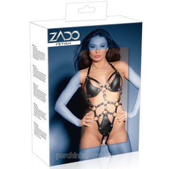 Кожаное боди Zado Fetish Crotchless Leather Body от Orion