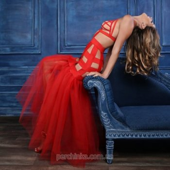Платье Allure Adore Leia Dress With Tulle Tail Red