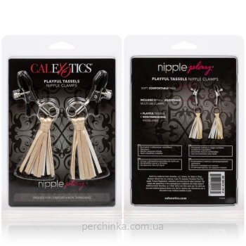 Зажимы для сосков Playful Tassels Nipple Clamps Gold от California Exotic