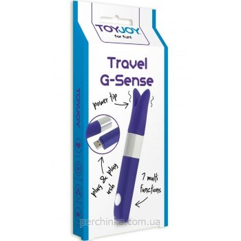 Мини вибратор Toy Joy Travel G-Sense